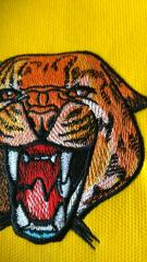 Close up plan wild cheetah embroidery design