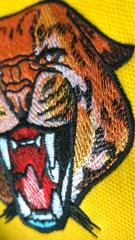 Detail of wild cheetah embroidery design