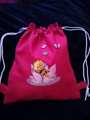 Embroidered backpack with Free bee design