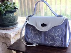 Embroidered bag with Floral swirl free design