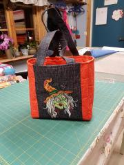 Embroidered bag Ugly witch