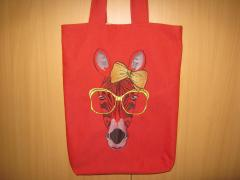 Embroidered bag with Zebra in glasses free design