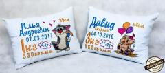 Embroidered cushions birthday souvenirs