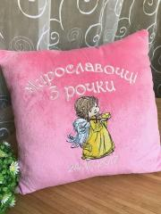 Embroidered pillow with Little angel design