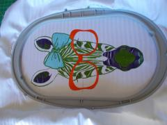 In hoop Zebra in red glasses free embroidery design