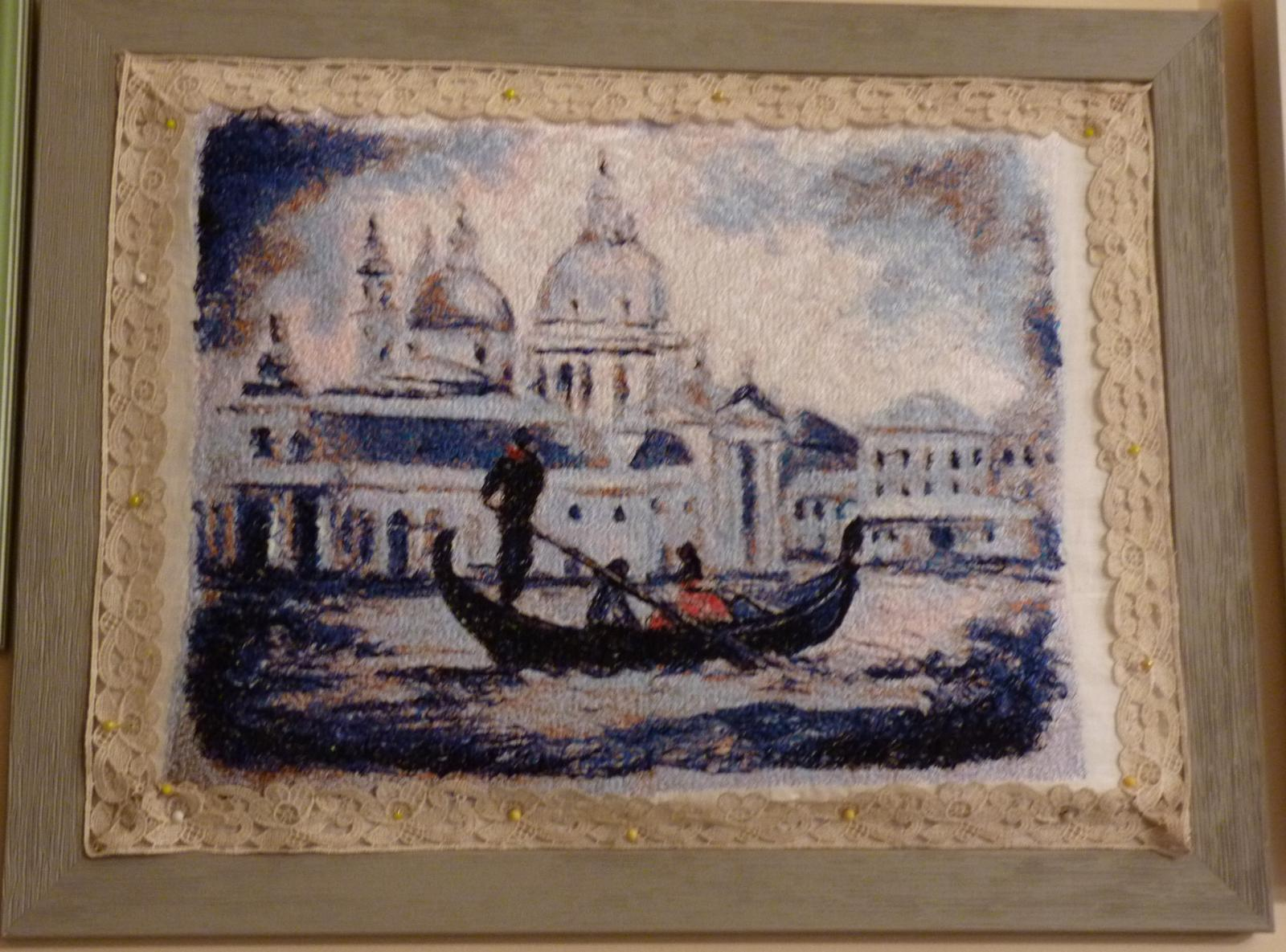 Framed Venizia travel to river free embroidery design