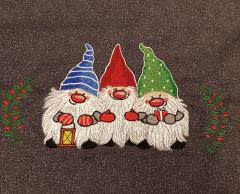 Christmas dwarves embroidery design
