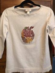 Embroidered sweater Autumn leaves design