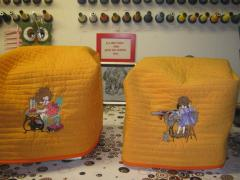 Two sewing cases with sewing girls embroidery design