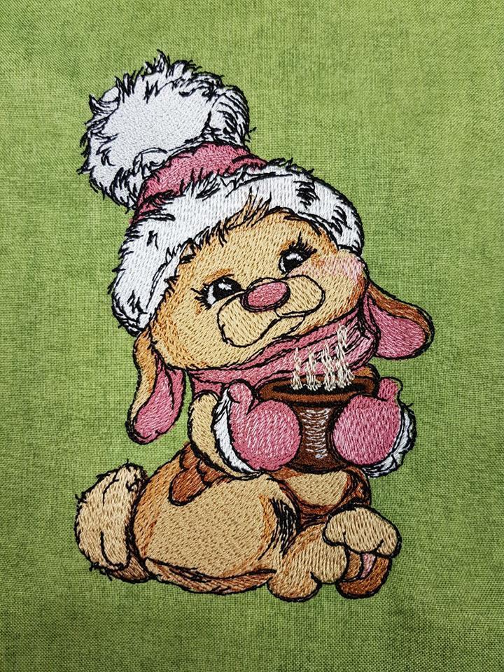 Сocoa for bunny embroidery design