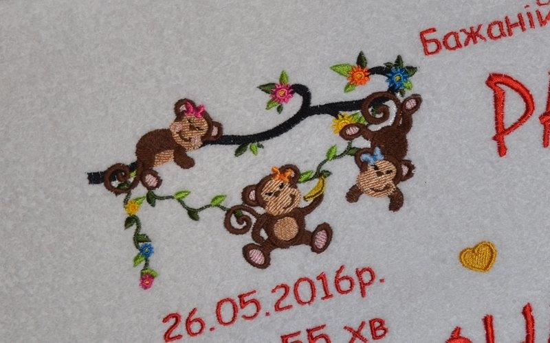 Merry monkeys embroidery design