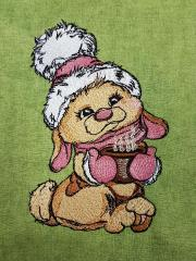 Сocoa for bunny embroidery design