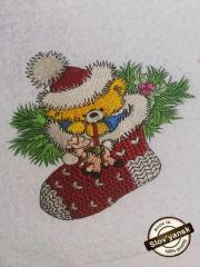 Christmas Teddy bear embroidery design