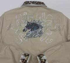 Embroidered jacket with Mosaic horse design