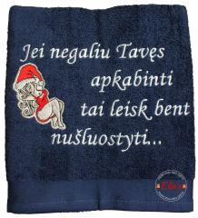 Embroidered towel with Sexy Santa design