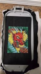 Red dragon free embroidery design on the hoop