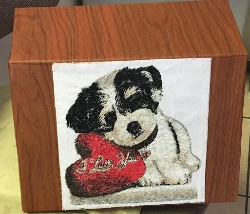 Embroidered picture cute_little dog design
