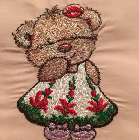 Teddy bear embroidery
