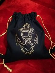 Embroidered backpack anchor one color