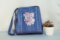 Embroidered bag fancy flowers designs