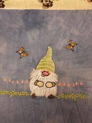 Merry dwarf embroidery design