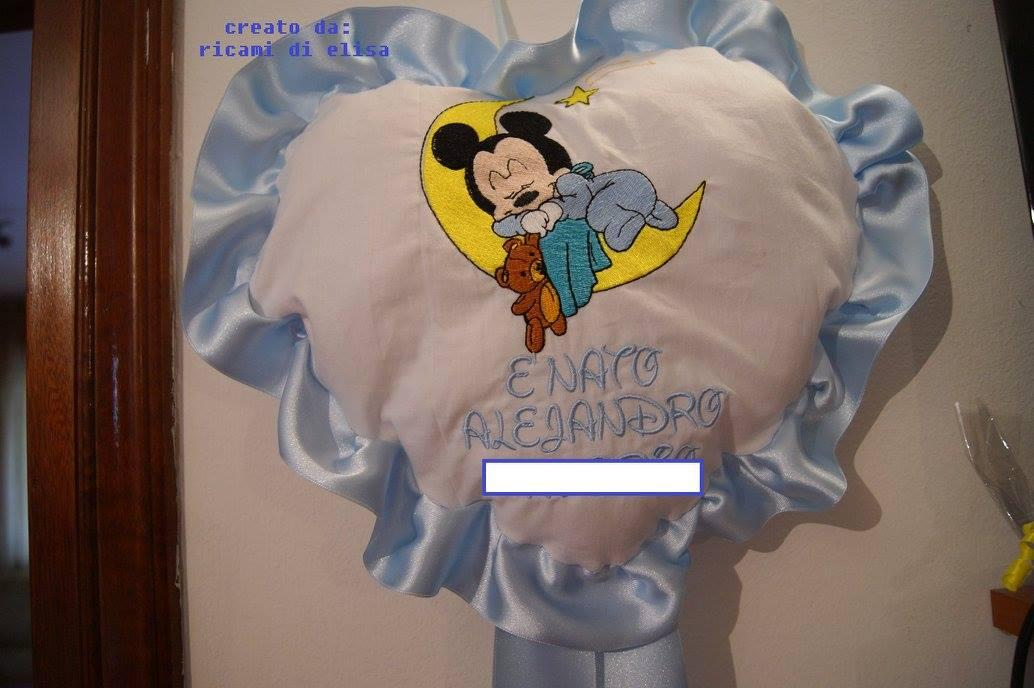 Baby Mickey Sleeping embroidery design