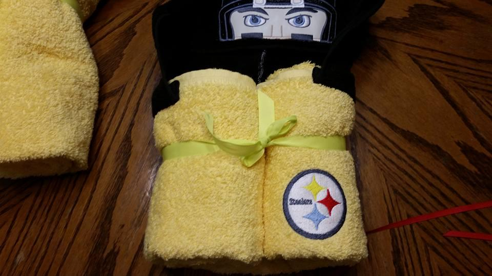 Terry towels with Steelers logo 2