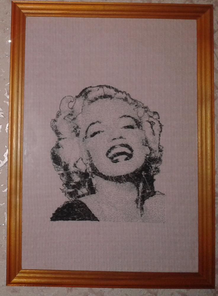 Marilyn Monroe embroidered