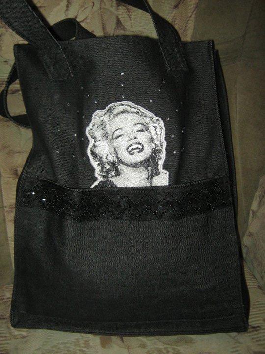 Marilyn Monroe embroidered bag