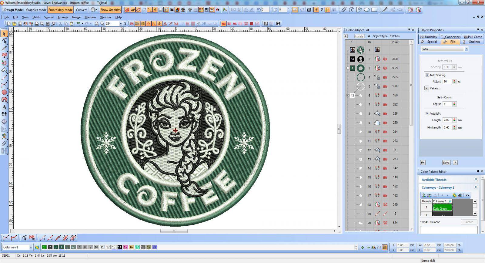Frozen coffee screenshot