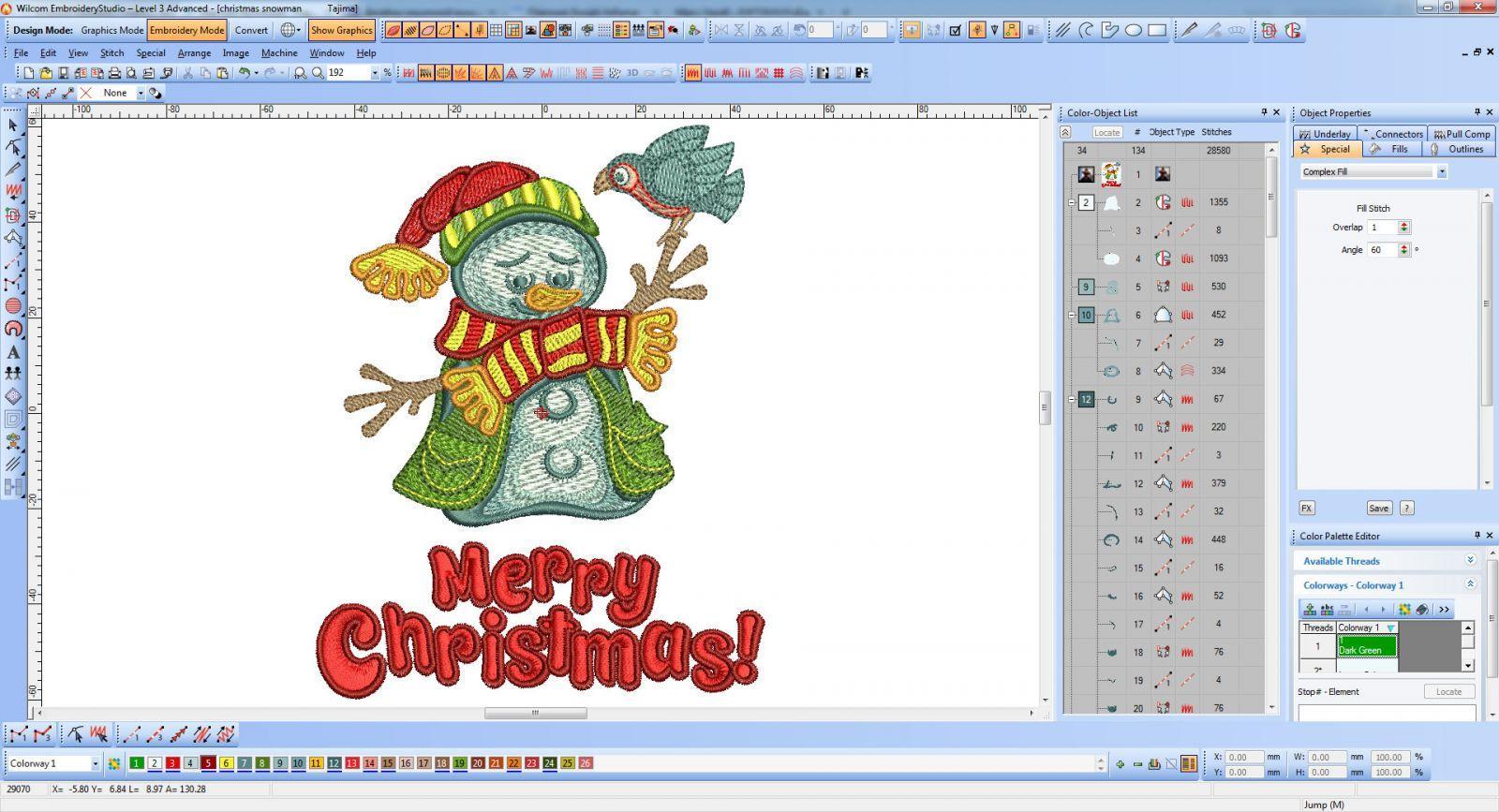Christmas embroidery design screen shot