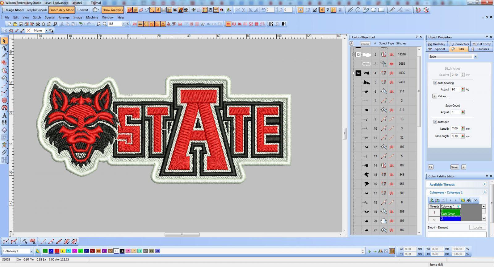Arkansas Red Wolves logo screen shot
