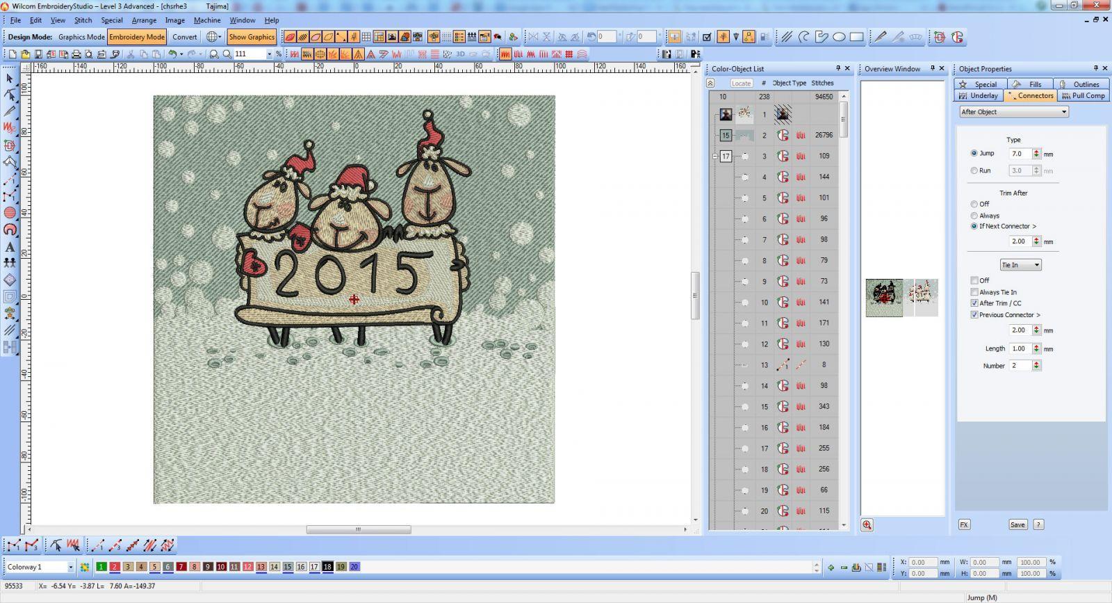 Chistmas sheep embroidery screenshot
