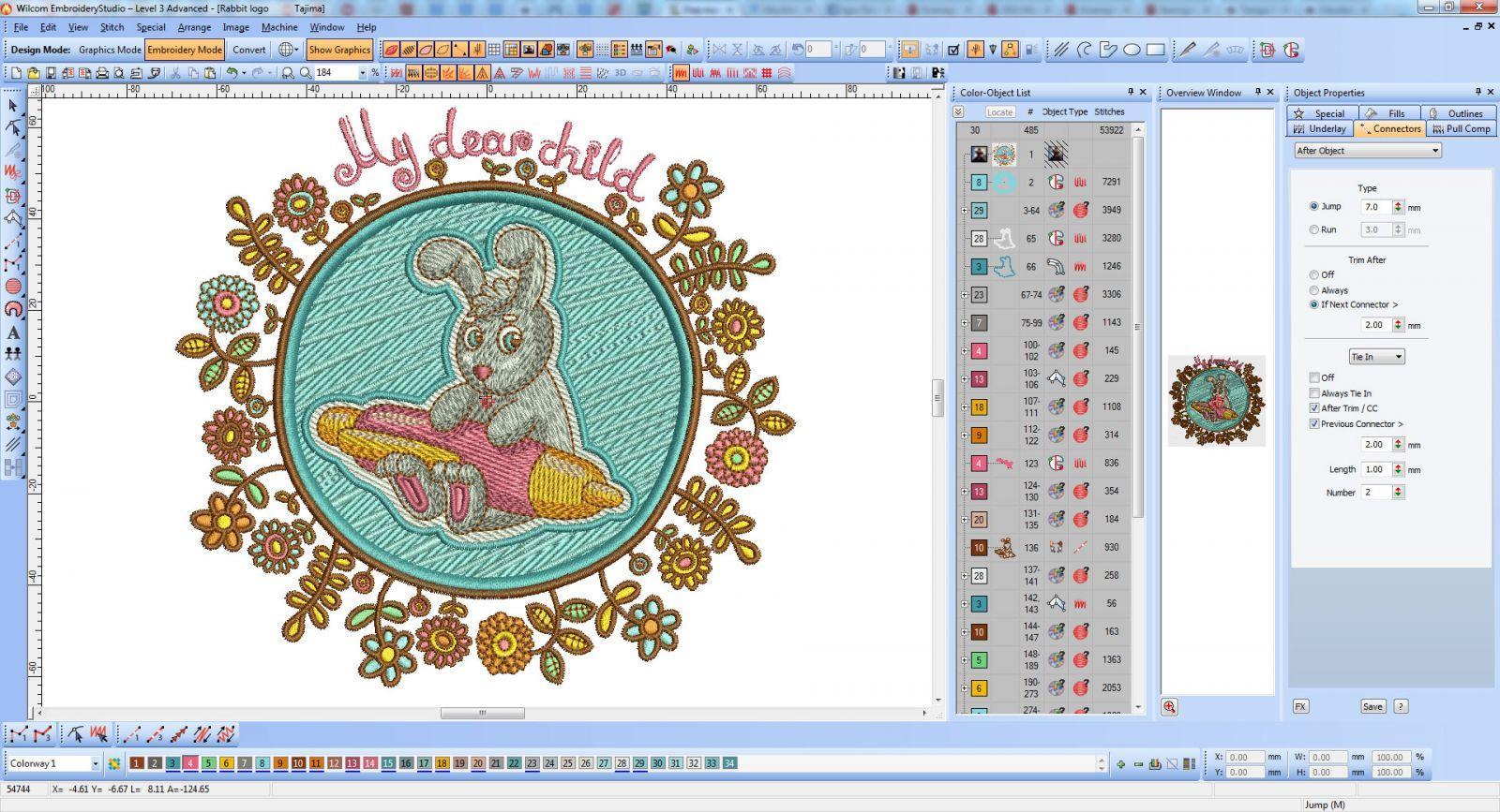 Cute Bunny - My Dear Child embroidery screenshot
