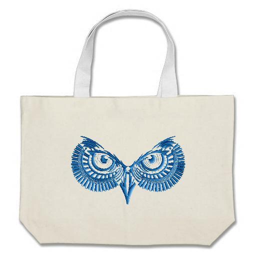 Owl embroidered bag