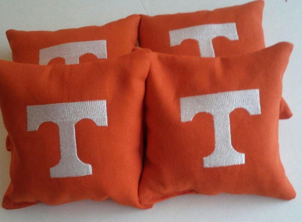 Tennessee volunteers logo embroidered pillow