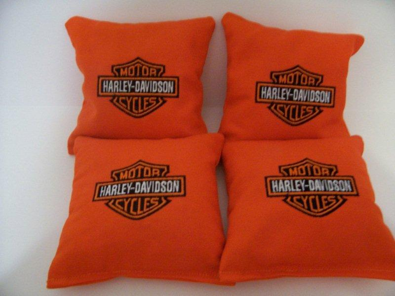 Harley Davidson embroidered pillow