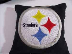 Pittsburgh Steelers logo embroidered pillow