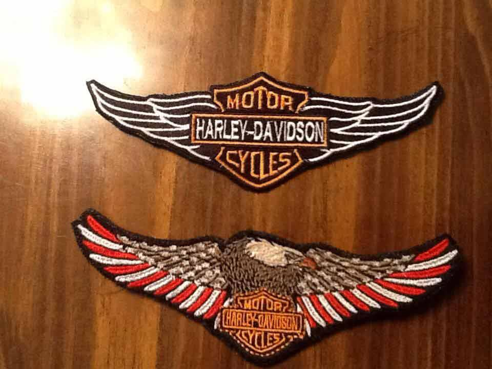 Harley Davidson Logotypes Embroidered Designs Embroidered Logotype