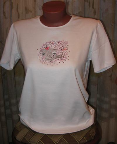 flying Cat shirt with free embroidery