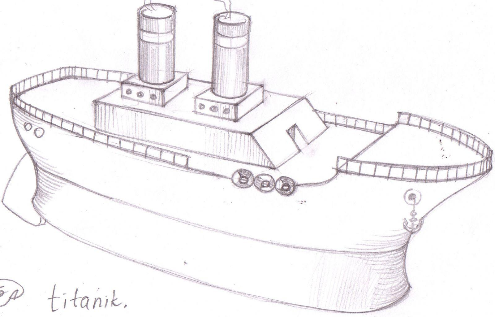 Wooden Boat scetch