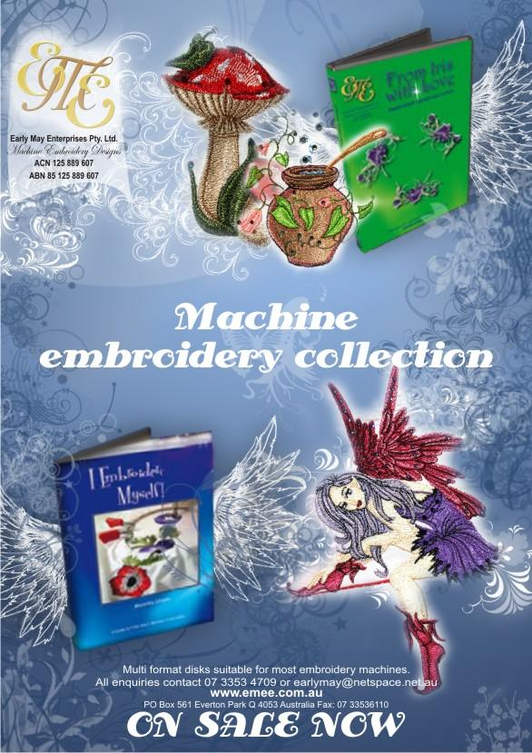 EME embroidery advertising embroidery collection in magazine