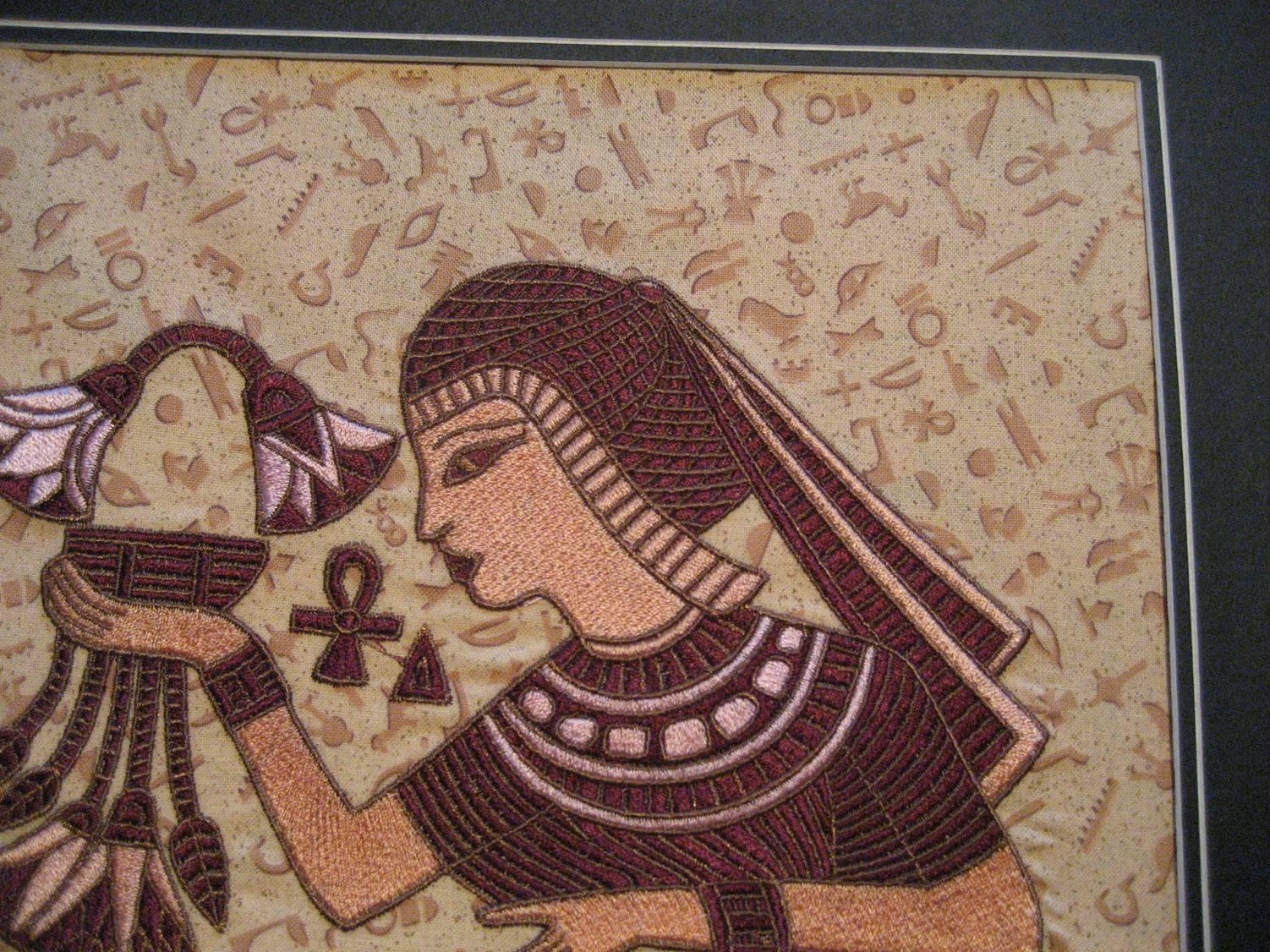 Nefertiti embroidery design by Orfeus