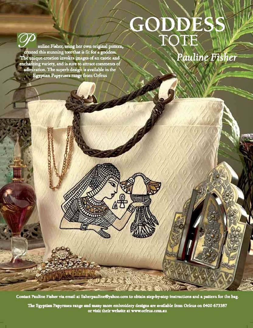 Advertizing and article in Creative Embroidery magazine