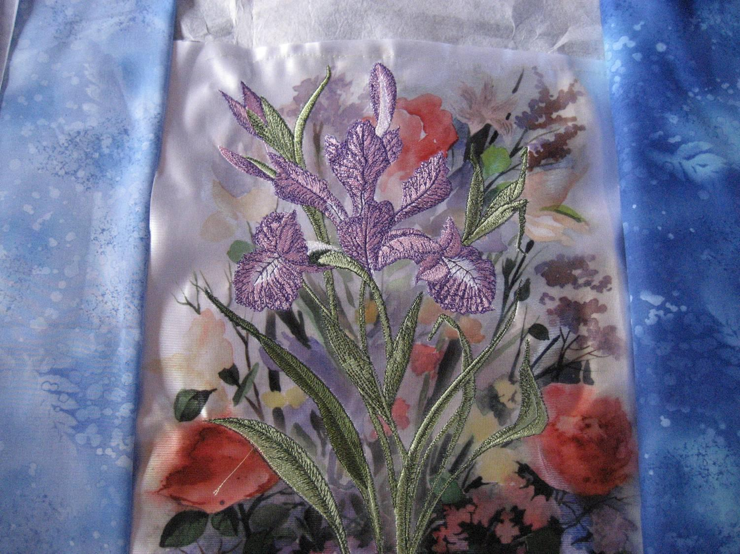 Background for Iris embroidery design