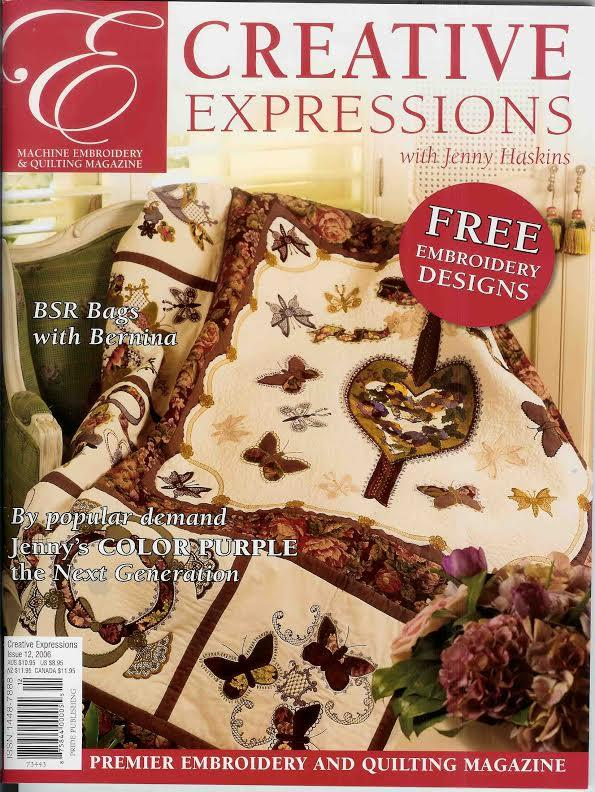 Creative Expression magazine embroidery magazine