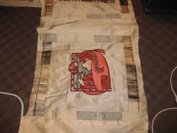 Nefertiti embroidery design