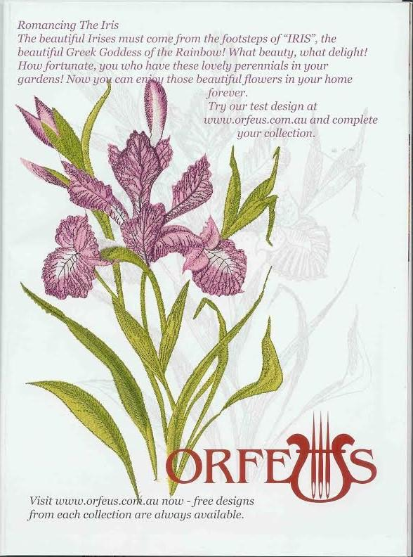 Orfeus Advertizing In Creative Expression Magazine Embroidery