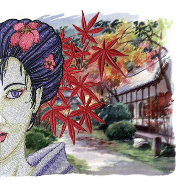Geisha, oriental art and print