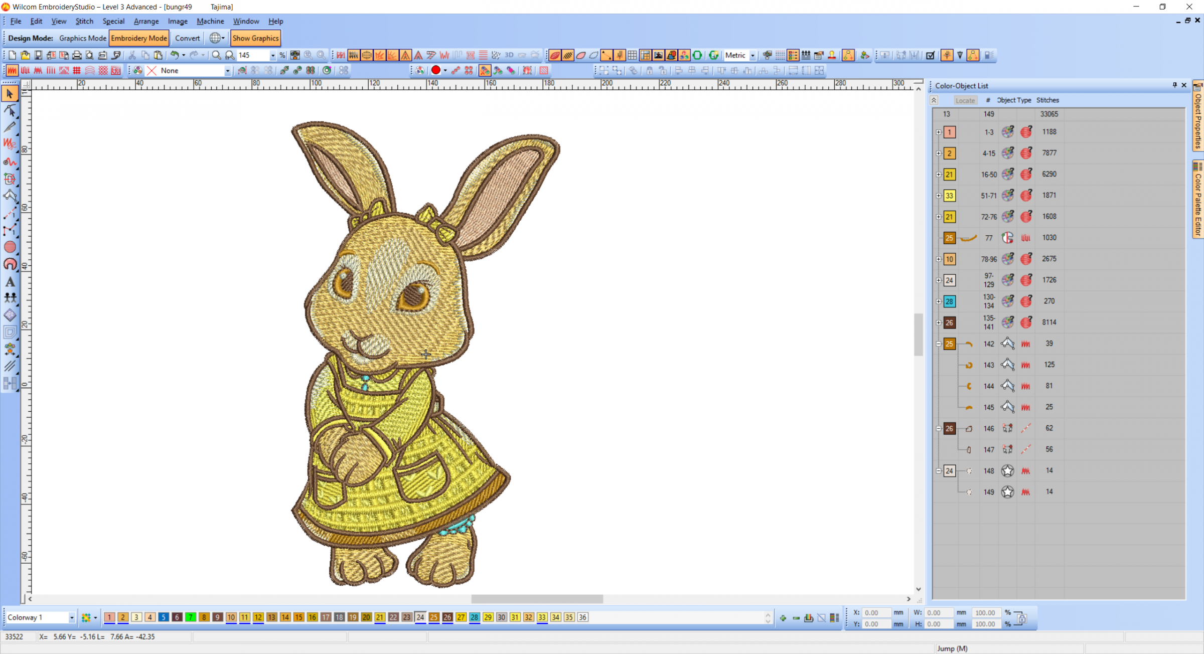 Little cute bunny embroidery design preview